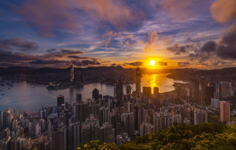 Sunrise In Hong Kong