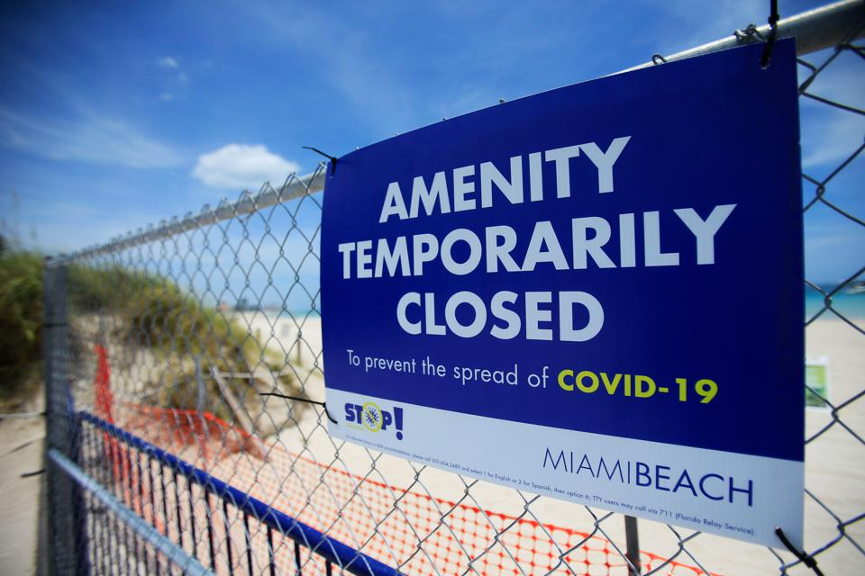 Fourth Of July Weekend In Florida Sees Some Beaches Open, Some Closed, As Coronavirus Cases Spike