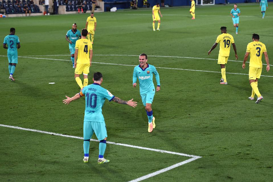 Antoine Griezmann and Lionel Messi were in fine form for FC Barcelona against Villarreal.