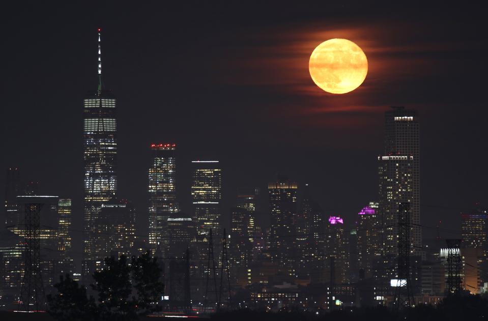 Buck Moon Rises in New York City