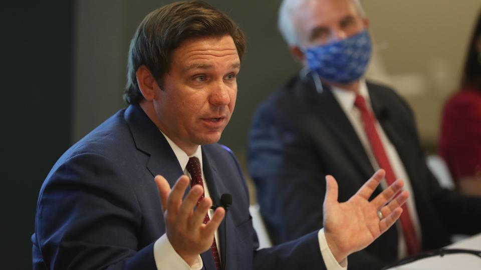 Florida Gov. DeSantis Holds News Conference On COVID-19 At Miami Hospital