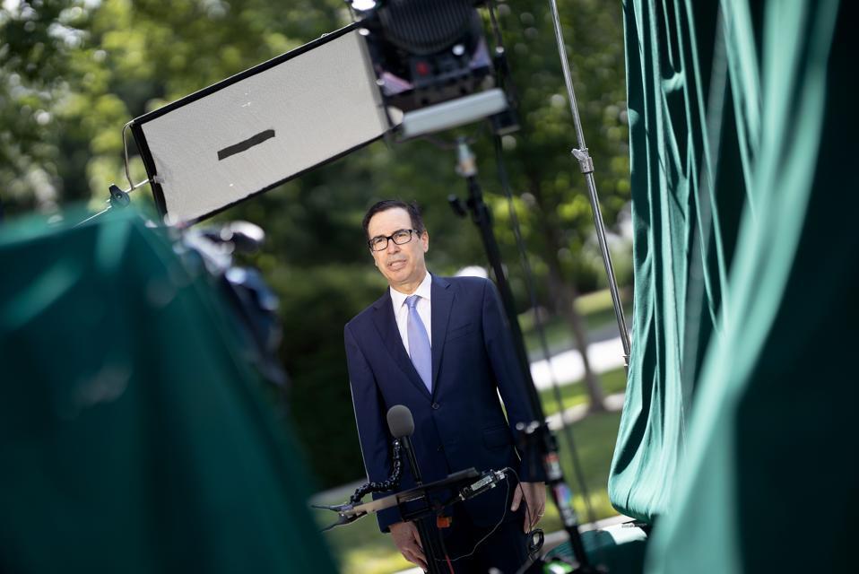 Treasury Secretary Mnuchin Speaks To Media At The White House