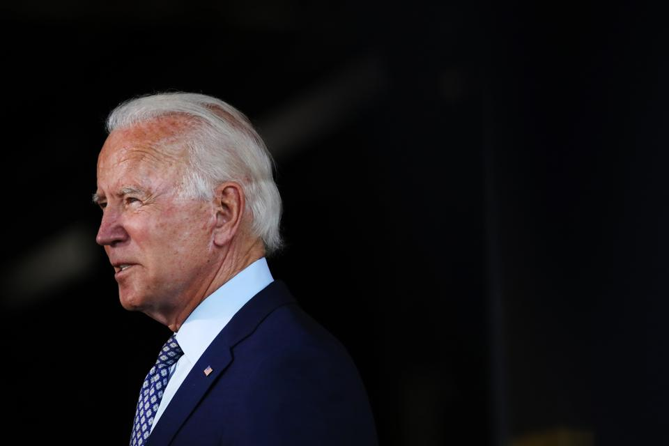 Presidential Candidate Joe Biden Delivers Remarks In Pennsylvania