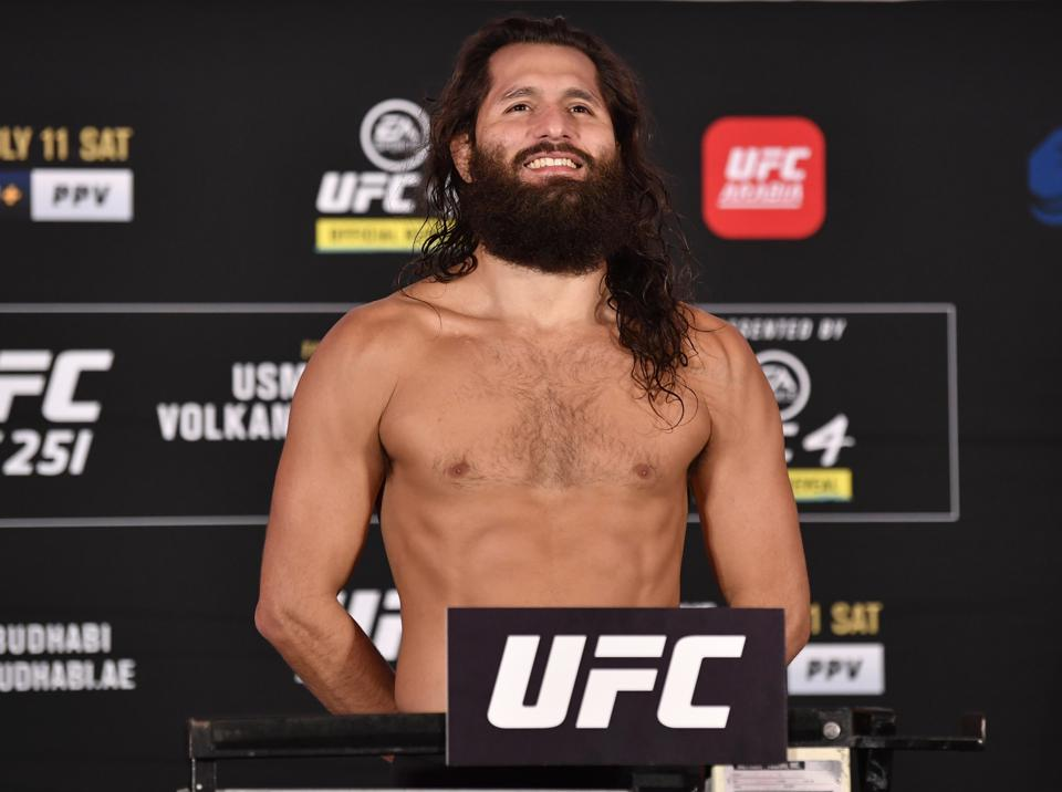 Jorge Masvidal faces Kamaru Usman in the main event of tonight's UFC 251 pay-per-view card