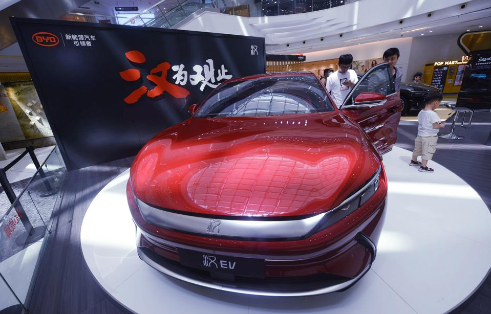 BYD Han Electric Vehicle Unveiled In Hangzhou