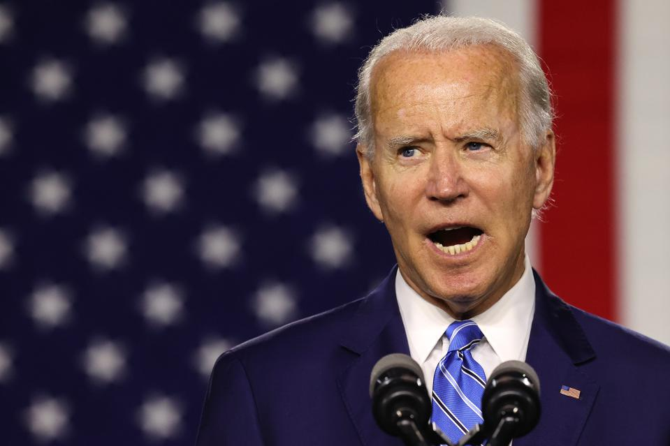 Democratic Presidential Candidate Joe Biden Speaks On His ″Build Back Better″ Clean Energy Economic Plan