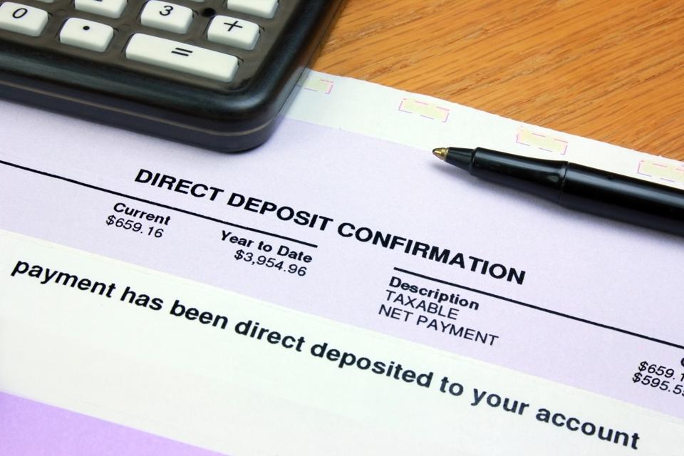 Direct Deposit Confirmation