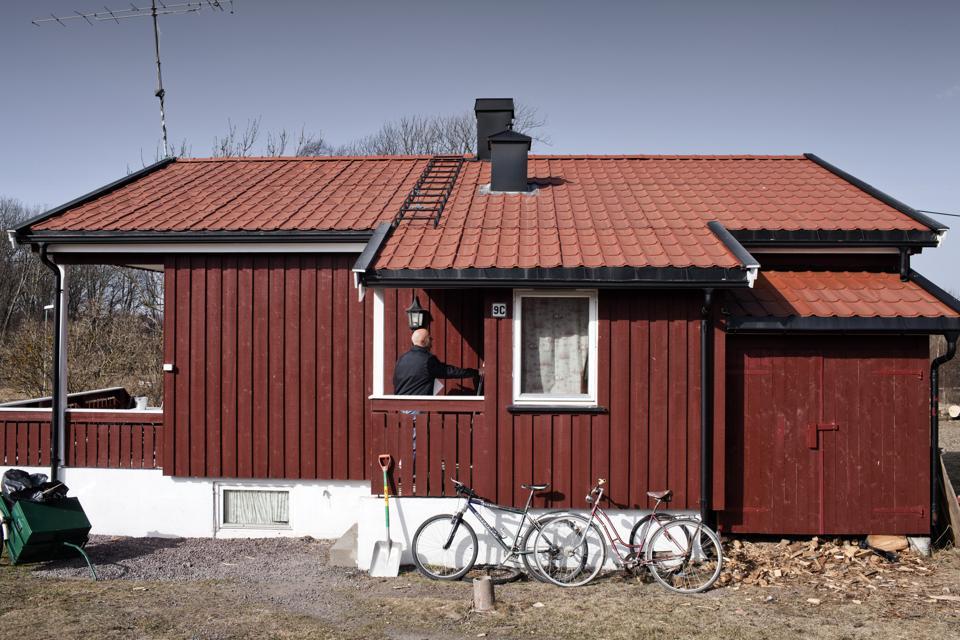 Prisoner accommodation at Bastøy prison in south-east Norway.