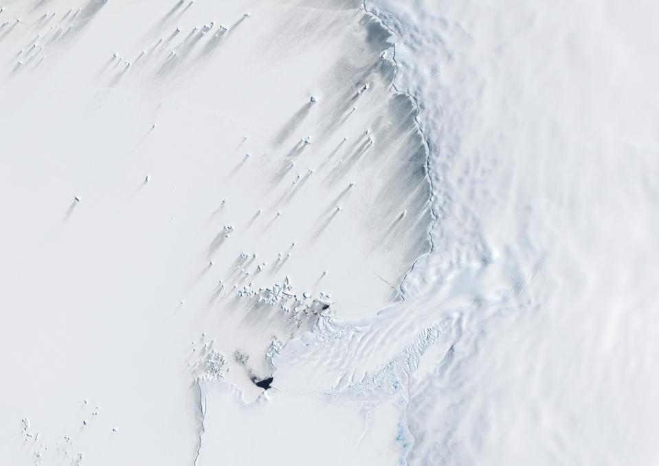 Pine Island Bay, Amundsen Sea, Antarctica, True Colour Satellite Image