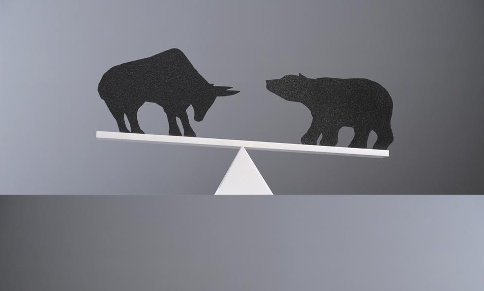 Balance between a bull and a bear.