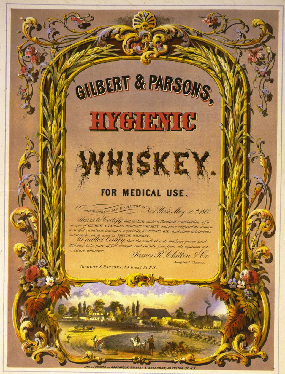 Gilbert And Parsons' Hygienic Whiskey