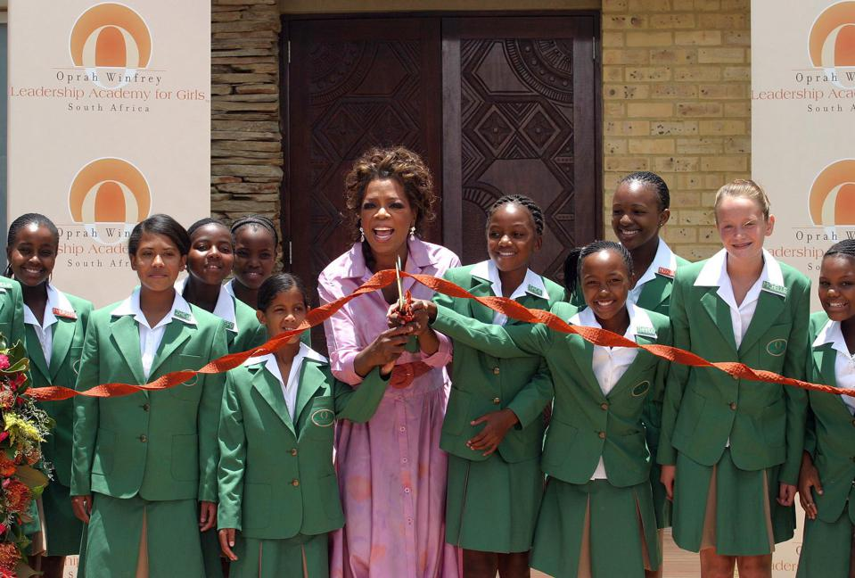 Oprah Winfrey, girls, education, support, leadership, connection, vision, success