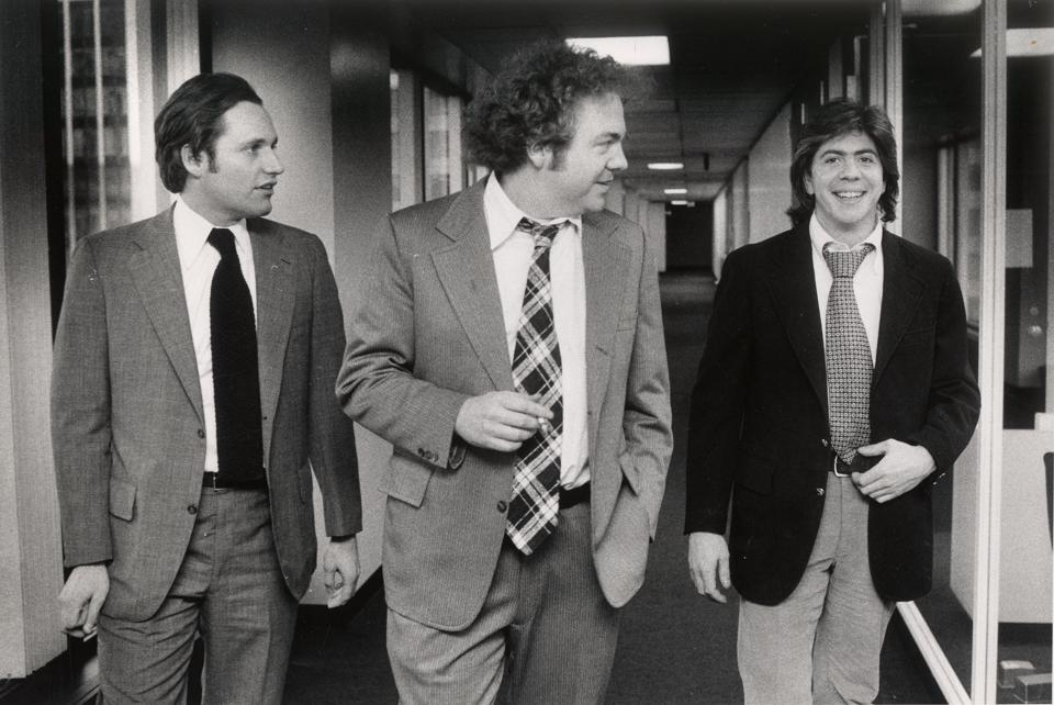 Bob Woodward, Scott Armstrong and Carl Bernstein at the Washington Post ...