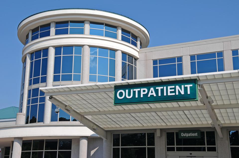 Hospital with Outpatient sign