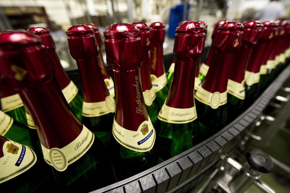 Bottles of Rotkaeppchen sparkling wine