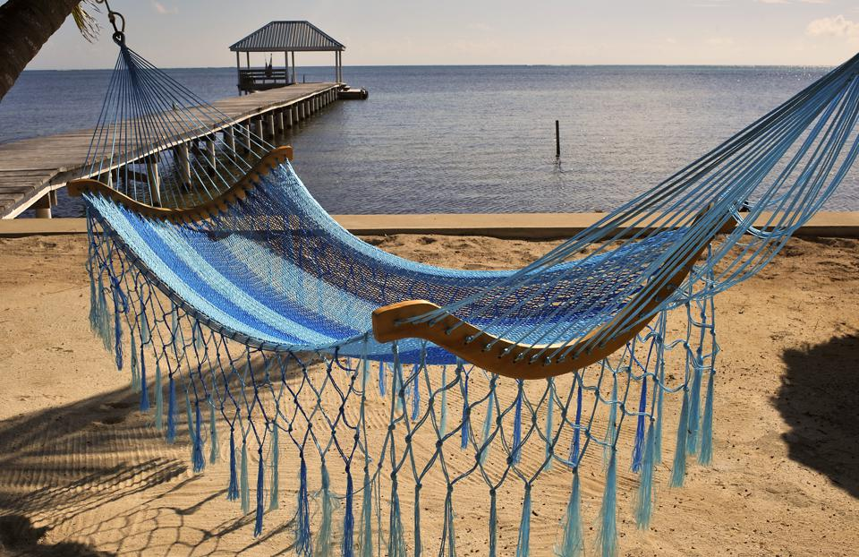 Hammock On The Beach At Ambergris Caye, Belize