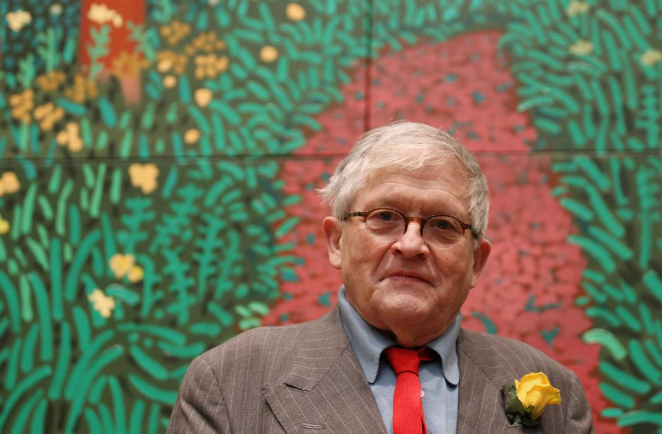 Artist David Hockney At A Major Exhibition Of His Work At The Royal Academy