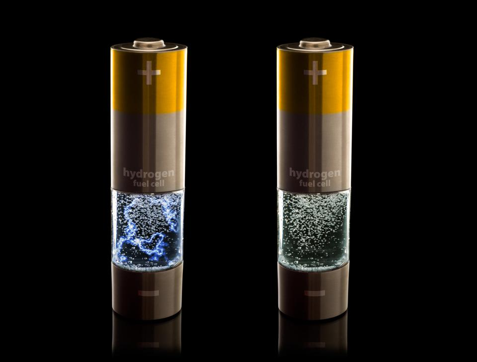 Hydrogen fuel cell AA (LR6) batteries w/ electrical discharge