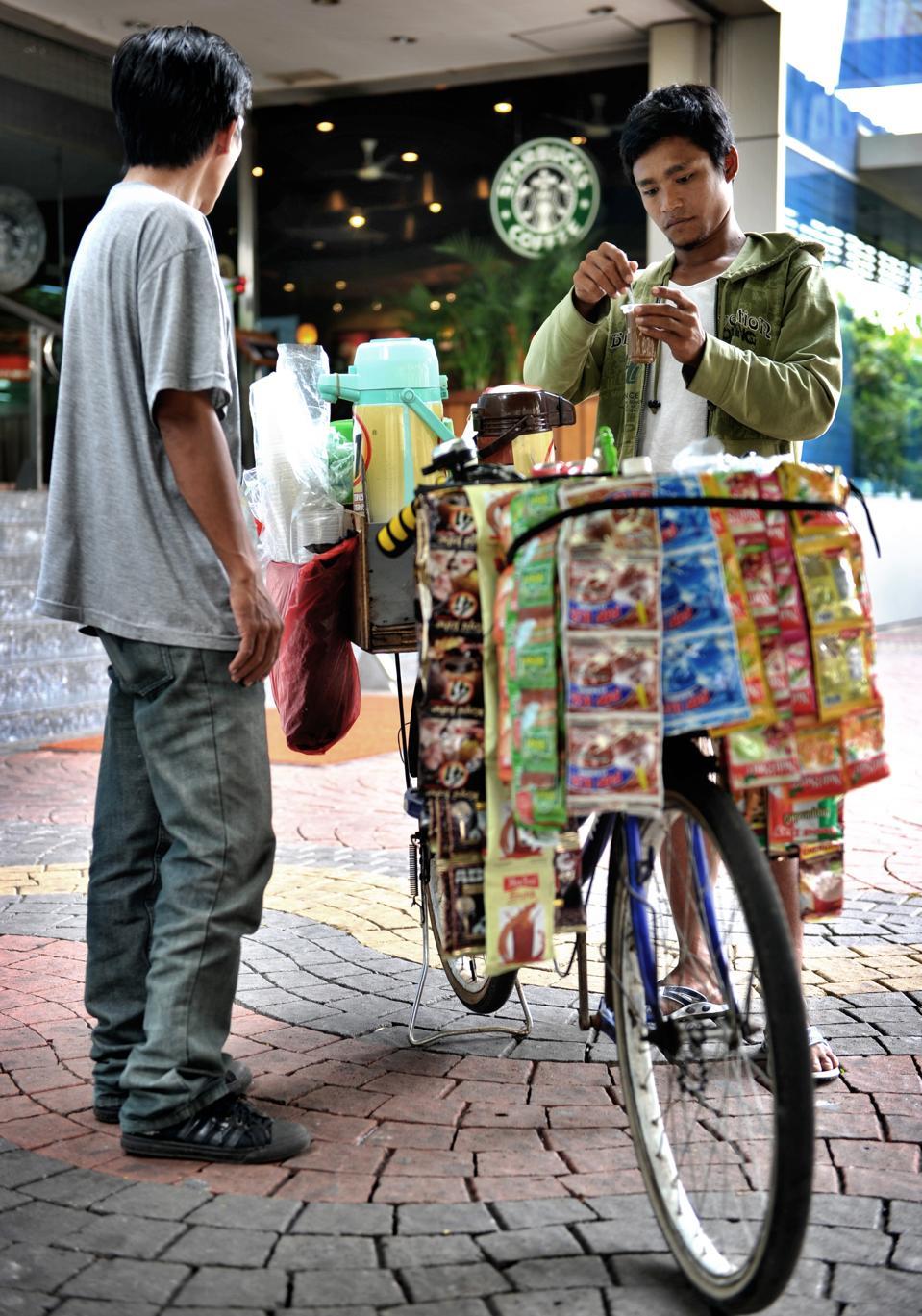 Bicycle coffee vendors