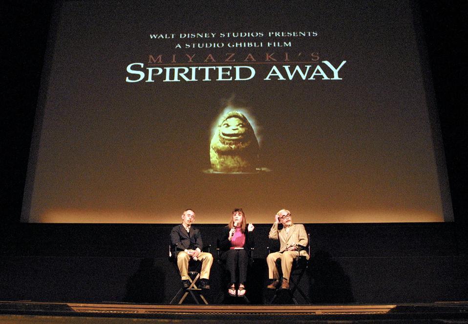 Hayao Miyazaki And Toshio Suzuli The Film Spirited Away