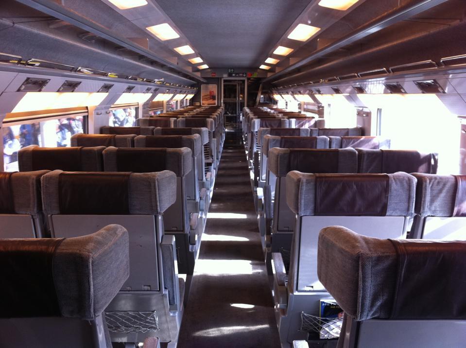 First Class compartment in Eurostar train
