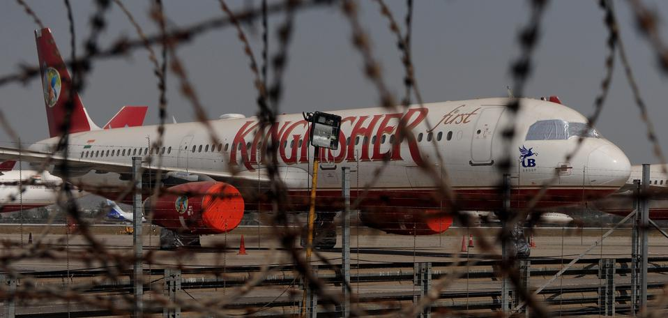 India's Kingfisher Airlines aircraft are