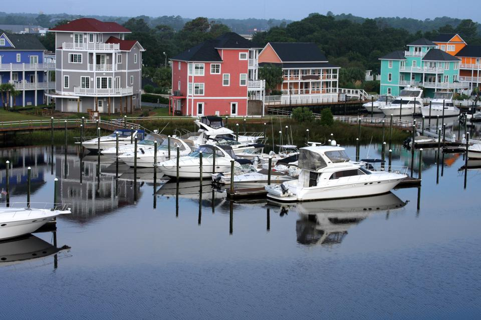 Morning Harbor in North Carolina
