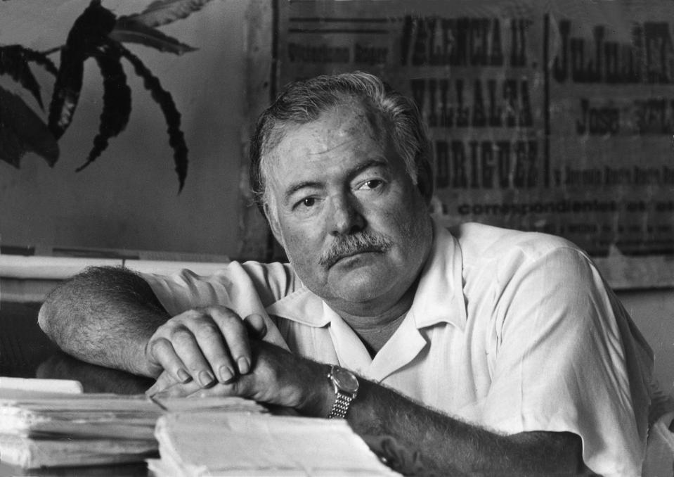 Ernest Hemingway In His Office