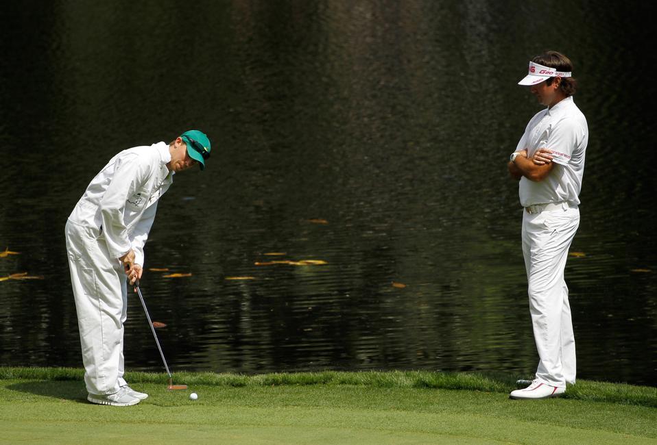 Denny Hamlin and golfing buddy Bubba Watson