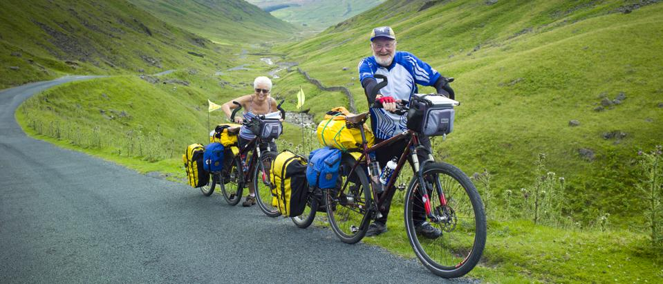 Cyclists, Wrynose Pass, The Lake District, UK