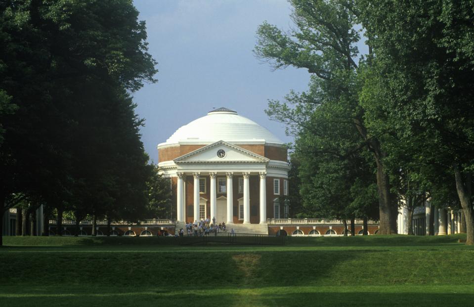 Exterior of Rotunda at University of Virginia designed by Thomas Jefferson, Charlottesville, VA