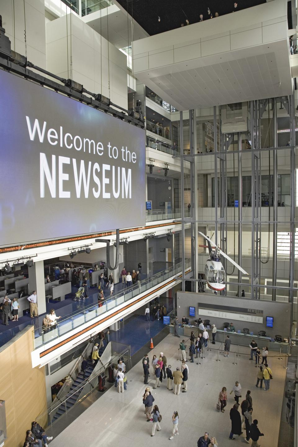 The Newseum Museum of News on Pennsylvania Avenue, Washington, D.C.