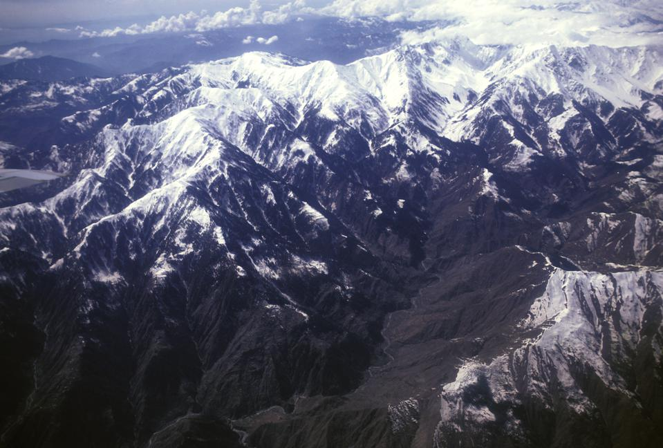 India, Kashmir, Aerial View Of The Himalayas.