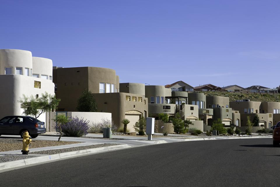 Modern Adobe homes in New Mexico