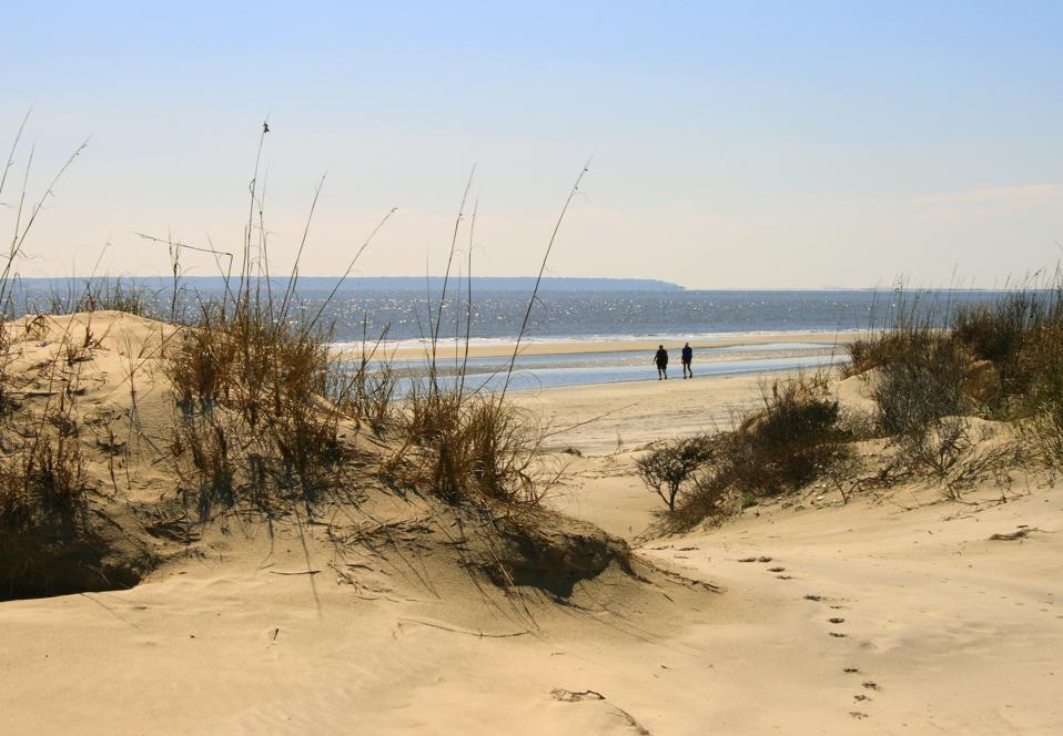 Walking Jekyll Island Beach