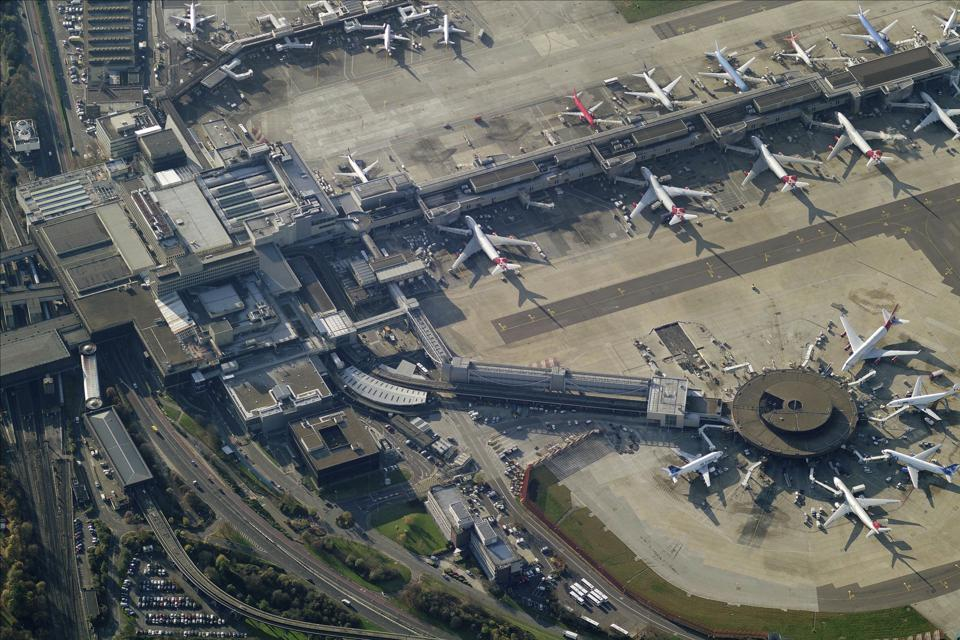 Aerial View Of London-Gatwick Airport, Crawley