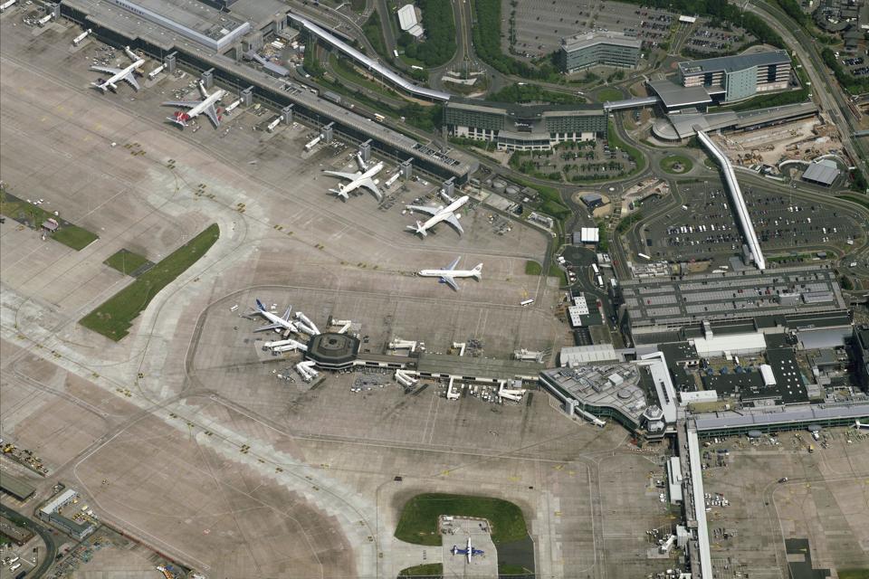 Aerial View Of ManchesterRingway InternationalAirport, Manchester