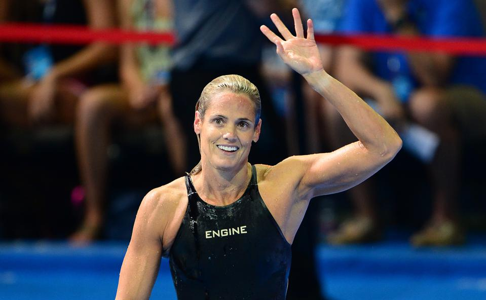 Dara Torres, 45, who finished fourth, wa