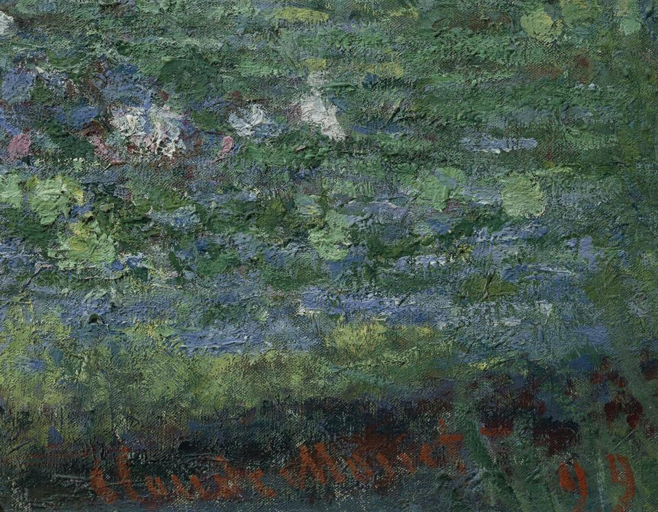 The Waterlily Pond: Green Harmony, 1899, by Claude Monet (1840-1926). Detail. (Photo by DeAgostini/Getty Images)