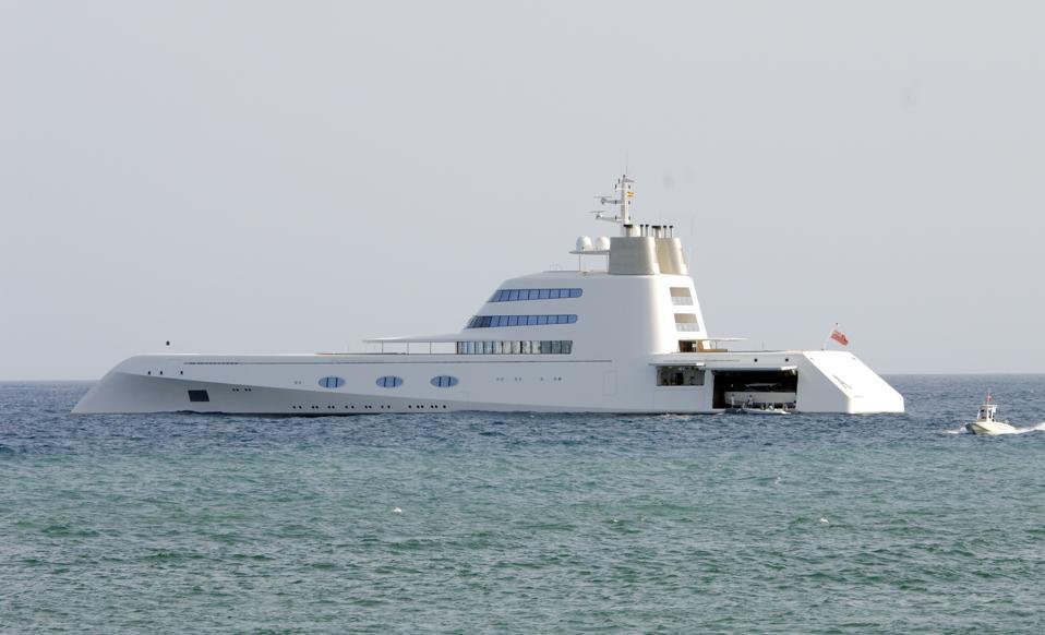 Andrey Melnichenko's Yacht Sighting In Marbella - July 16, 2012