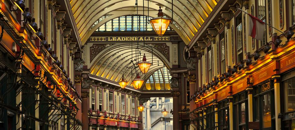 Leadenhall Market, favourite haunt of London's insurance community