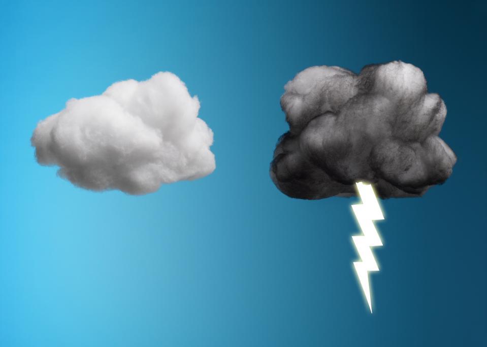 Storm Cloud and Sunny Cloud
