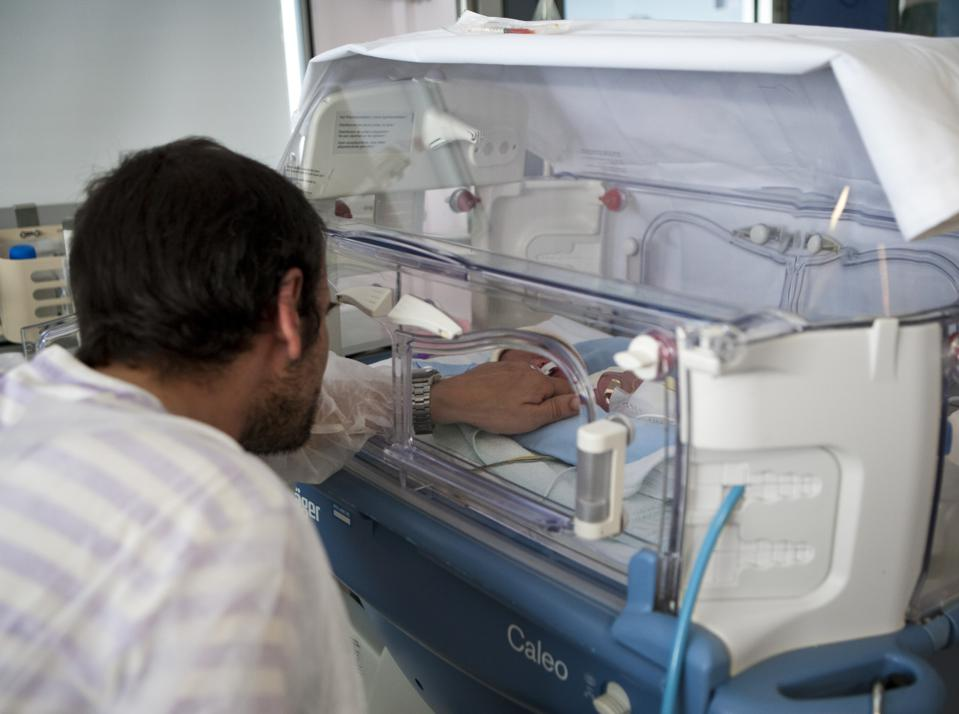 Father And Premature Baby