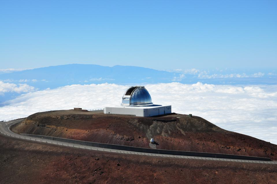 Observatory with Mauna Loa in Background