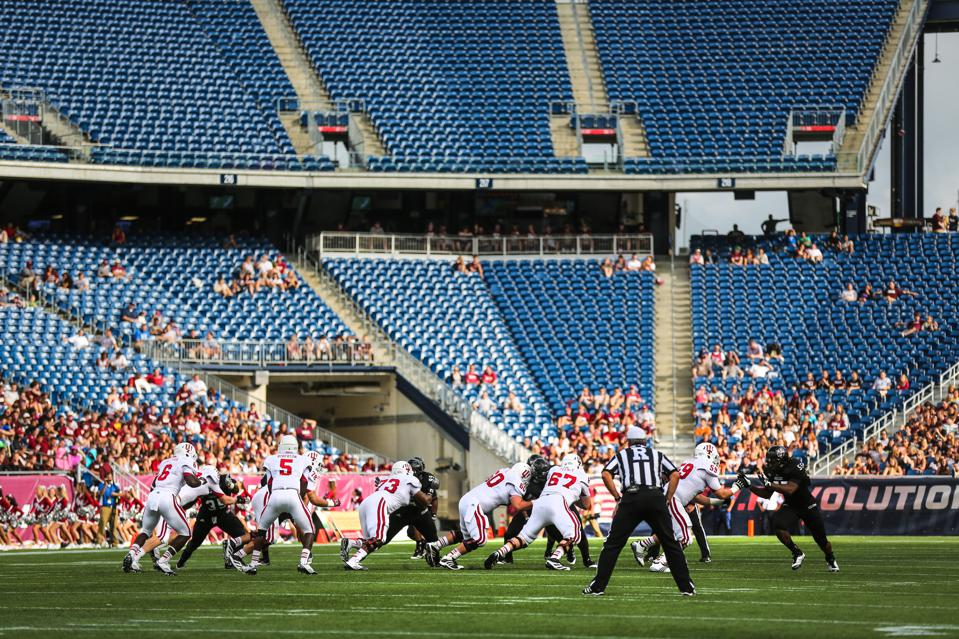 College Football: Indiana Vs. UMass At Gillette Stadium