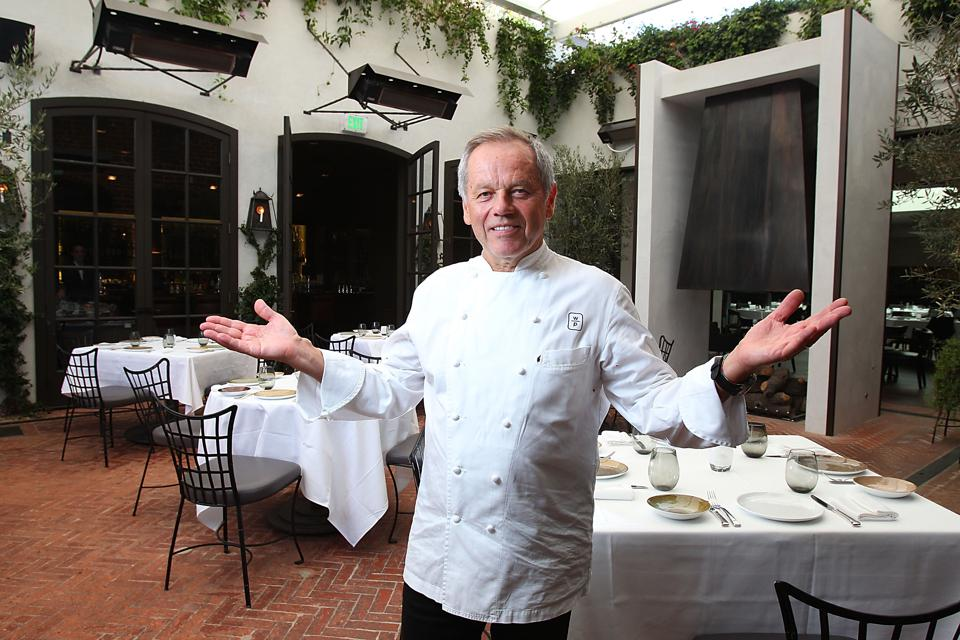 Wolfgang Puck at his world-famous Spago Beverly Hills in Beverly Hills, California.  (Photo by Joe Scarnici/WireImage)