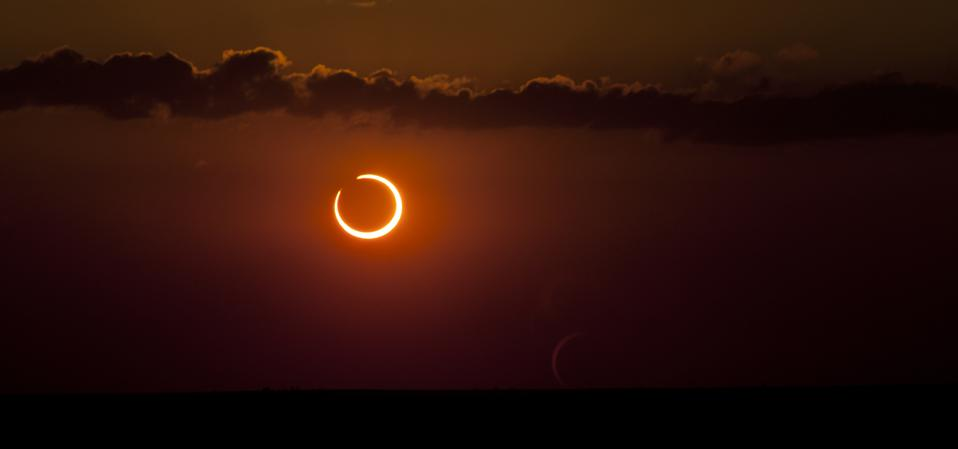 """A """"ring of fire"""" annular solar eclipse is coming to North America."""