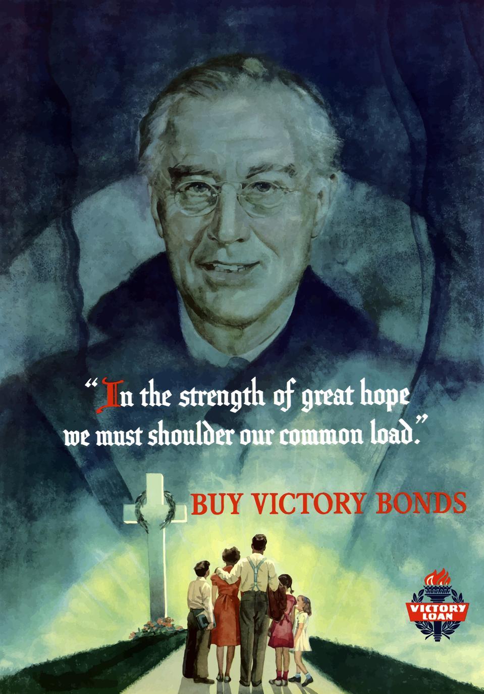 Digitally restored war propaganda poster.