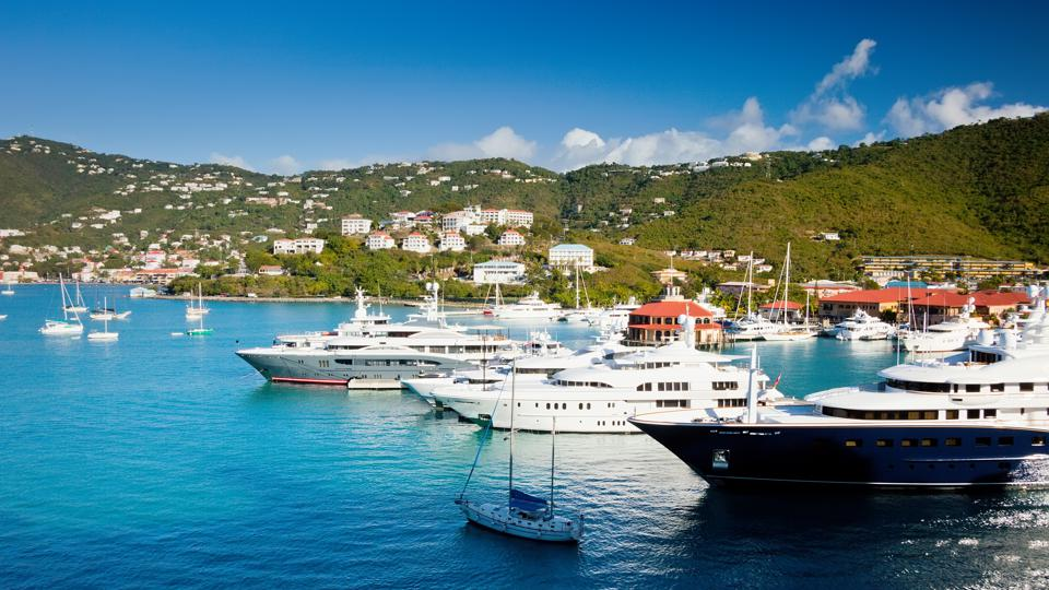 Marina and harbor in St. Thomas, USVI