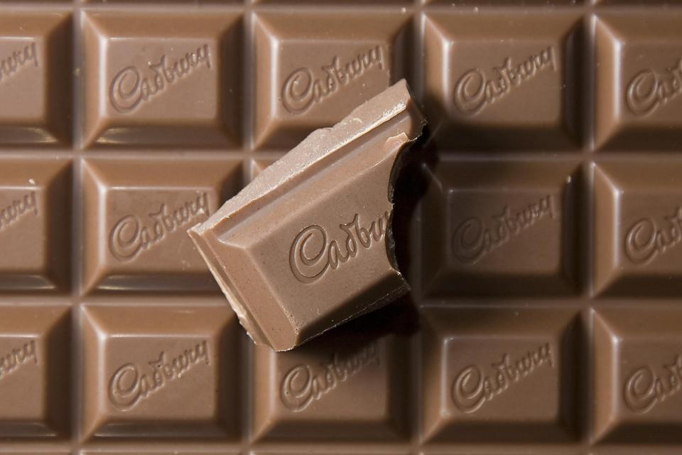 Cadbury Dairy Milk chocolate bar. Photo by John Phillips/UK Press via Getty Images